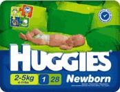 Подгузники Huggies Ньюборн 1 2-5 кг,  28 шт.