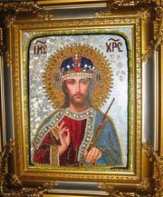 Бисерная икона Господь Вседержитель