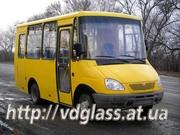 Автостекло триплекс,  лобовое стекло для автобусов Тур TUR