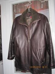 Продаю кожанную куртку б/у - Мужская одежда