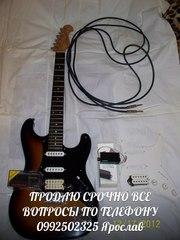 Продам электро гитару фирма JD (Джек и Дени) форма стратокастер