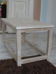Стол деревянный,  сосна брашированая (под старину)