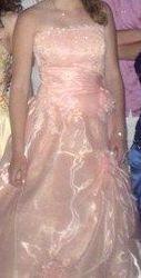 Срочно продам/сдам пышное платье персикового цвета.