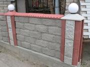 Крышки на забор купить Николаев Парапеты,  крышки бетонные для заборов