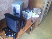 Новые,  не распакованные Xbox и Киннект,  2 геймпада,  48 игр. ПК ресивер