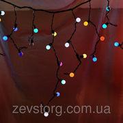 Гирлянда бахрома Шарики 3*0.5м кабель резина
