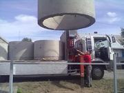 Монтаж колодцев из бетонных колец