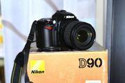 Продам фотоаппарат Nikon D90 18-105VR Kit
