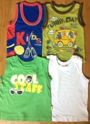 Продам безрукавки,  майки. футболки на мальчика разм. 92-104