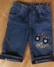 Продам джинсы утепленные зимние на мальчика  6-9 месяцев