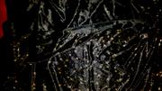 Материал,  ткань Трикотаж-масло,  трикотажный шёлк черный со звездочками