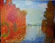Картина Холст,  масло,  копия«Осень в Аржантее»Клод Монеclaude Monet1873