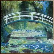 Картина Клод Моне «Пруд с кувшинками(Японский мостик)» масло – копия