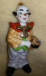 Статуэтка фарфоровая,  Клоун с барабаном,  Чехия.