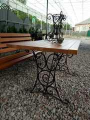 Стол садовый с коваными ножками