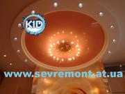 Натяжные потолки,  ремонт квартир в Николаеве
